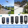 40/80/120 impermeable luz Solar de inundación exterior jardín camino de calle lámpara LED PIR Sensor de movimiento luz de la pared