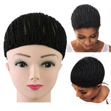 Weave Crochet Braid Wig Caps For Making Wigs Top Quality Weaving Braid Cap Wig Net Black Color For Women Girls(China)