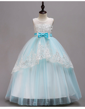 5340 Sequins Tutu Embroidery Princess Baby Girl Dress Summer Wedding Party Kids Dresses For Girls Wholesale baby girl clothes 3P