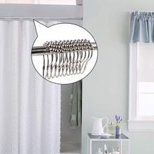 Shower Curtain Rings Hooks, Rustproof Stainless Steel Heavy Duty Hooks for Bathroom Rods 24pcs