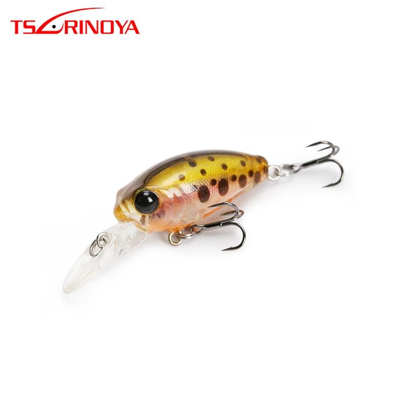 TSURINOYA Fishing Lure DW40 32mm 2.7g MINI Crank Bait Depth 1.8m Floating Artificial Bait Hard Lure 12 Colors
