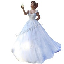 Classic Bride Dress Backless Wedding Dresses Train