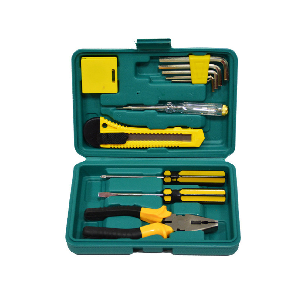 8012A 11pcs Set Car Emergency Repair Tool Set Box Kit