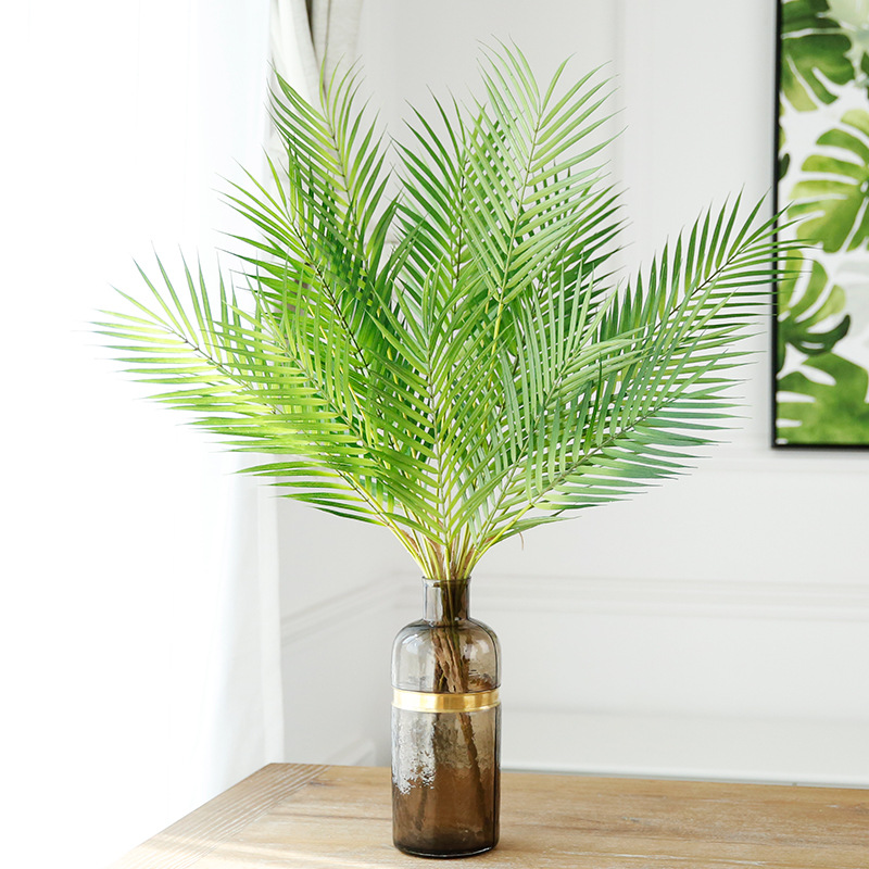 90cm Artificial Palm Tree Green Leaf Plants Plastic Branch Tropical Leaves Indoor Plastic Plants Tree Home Garden Decor Bonsai