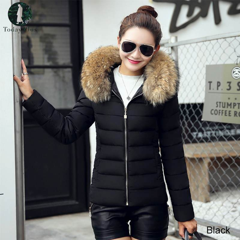 Plus Size Women Down Parka Coat Winter Cotton Jacket Thick Snow Wear Coat Jacket Female Fake Fur Collar Solid Warm Parkas  3xl