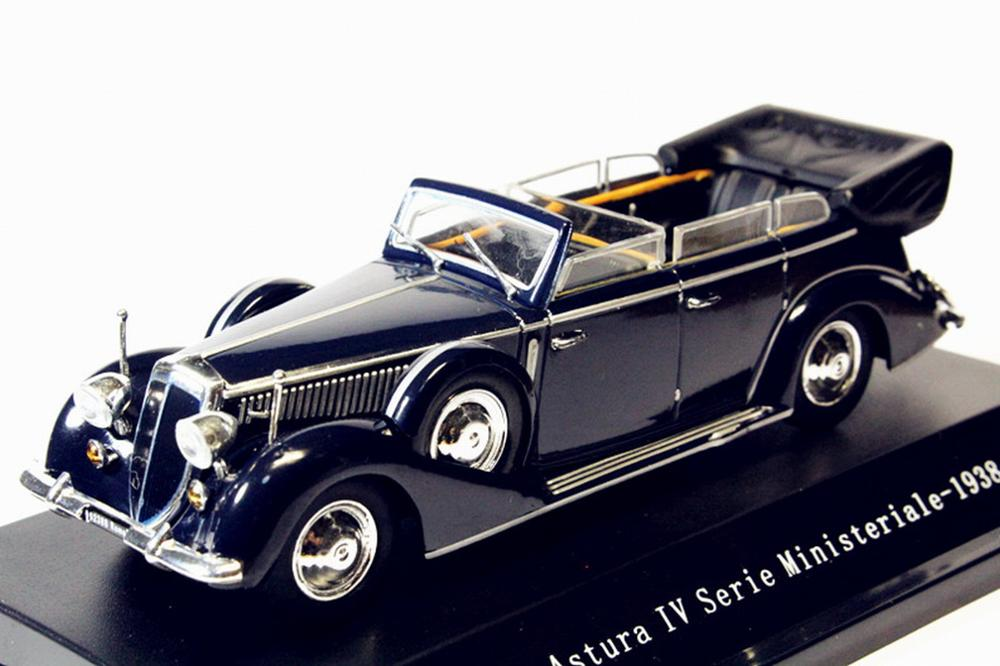 1/43 Starline Lancia Astura Ministeriale IV Serie 1938 Blue Diecast Model
