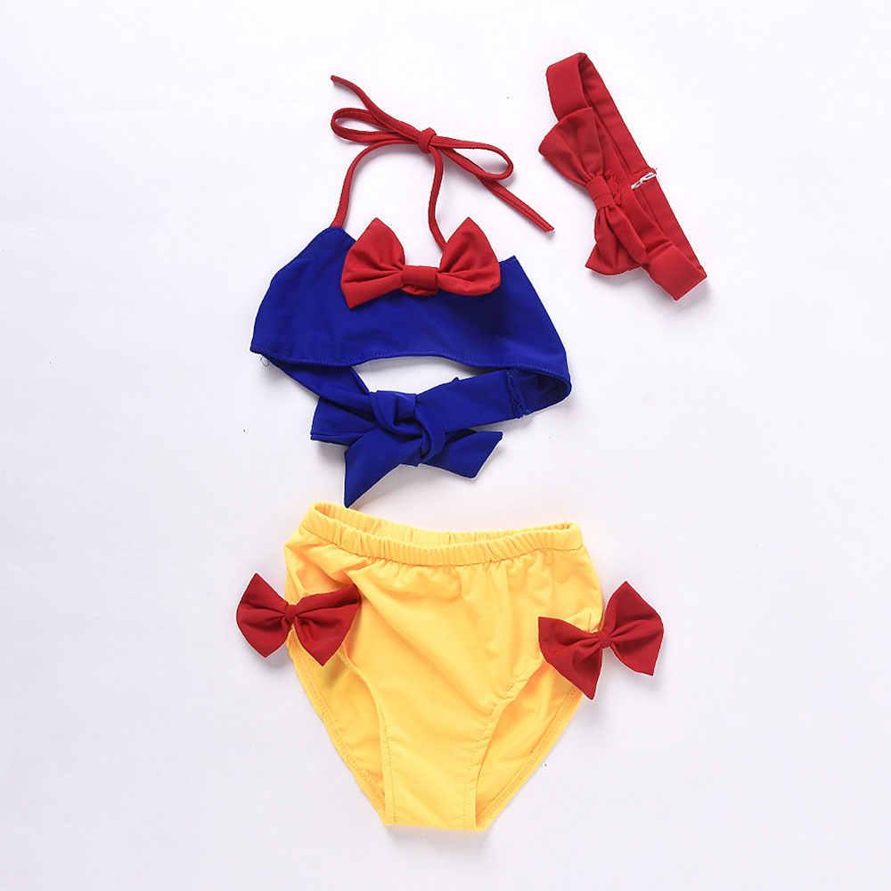 Belleziva/детское бикини для девочек; летний купальник для маленьких девочек; белоснежный Купальник; пляжная одежда; купальный костюм
