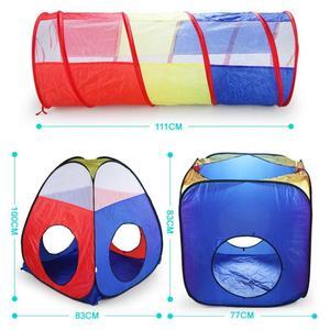 Image 3 - 4 adet bebek tarama tünel çadır evi çocuk kapalı açık oyun dalga okyanus top havuzu Pit oyuncak katlanabilir çocuk oyun çadırları oyun evi