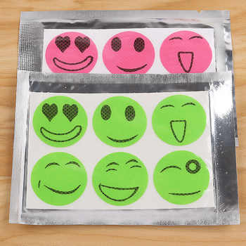 60pcs/bag Mosquito Stickers DIY Mosquito Repellent Stickers Patches Cartoon Smiling Face Drive Repeller