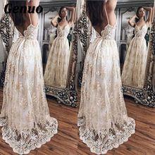 все цены на Genuo Sexy Women Floral Embroidery Dress Sheer Mesh Summer BohoA-line Maxi Dress See-through Long Dress 2018 Vestidos De Festa онлайн
