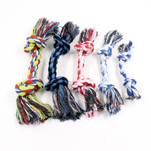 New Dog Pet Puppy Chew Cotton Rope Ball Braided Knot Toy Durable Bone Funny Tool