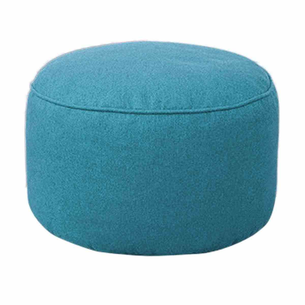 Bean Bag Footstool Cotton Soft Footstool Cover Home Sofa Round Stool Bean Bags Sofa Lounger Cover Washable Without Filler For Living Room Table
