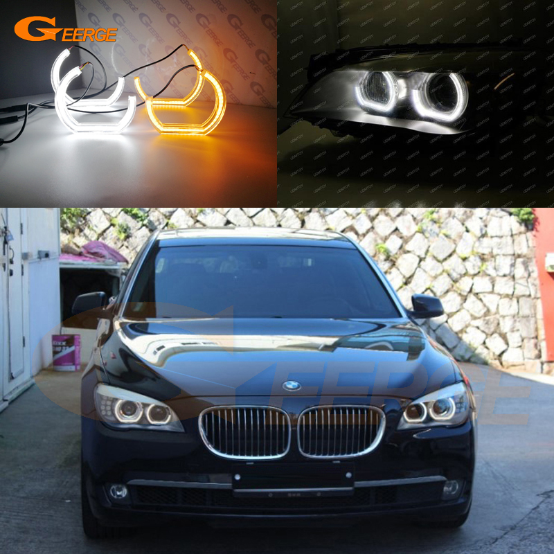 Us 73 59 11 Off For Bmw 7 Series F01 F02 F03 F04 730d 740d 740i 750i 760i 2008 2012 Dtm M4 Style Led Angel Eye Kit Dual White Amber Switchback In