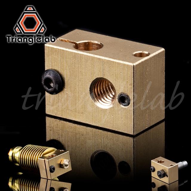 Cobre de bronze de cobre aquecedor do bloco para E3D hotend para impressora de alta temperatura para o Aço Endurecido V6 3D Bicos/titan extrusora