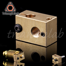 цены copper brass heater block for E3D copper hotend for 3D printer high temperature  for Hardened Steel V6 Nozzles/titan extruder