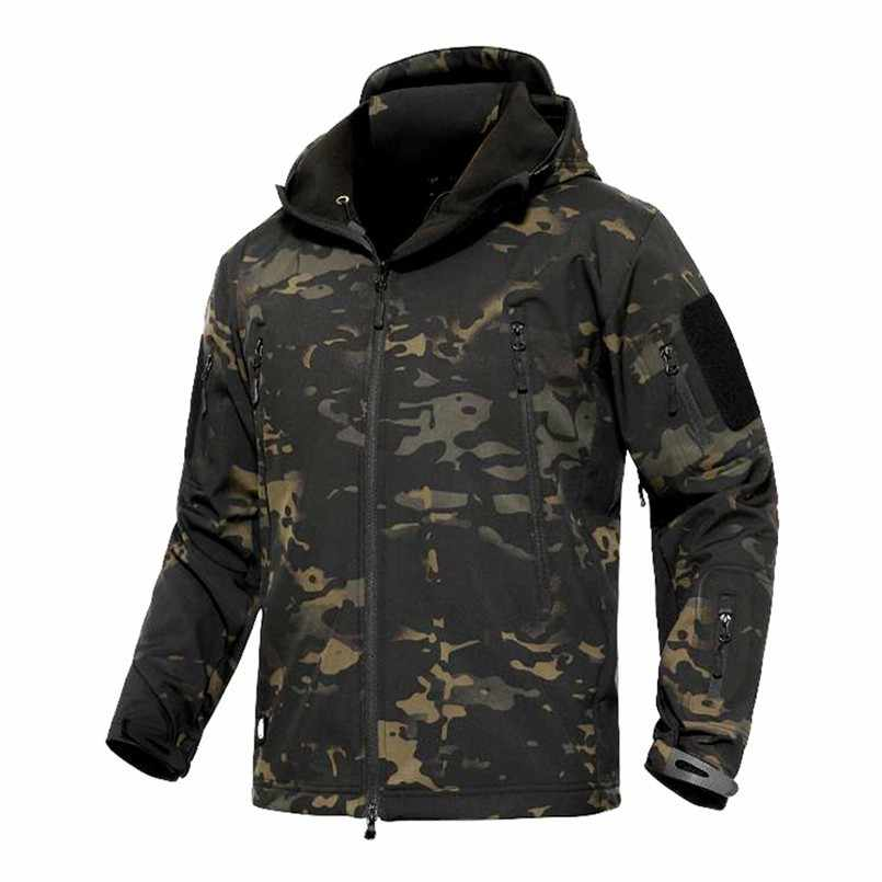 Winter TAD Thermal Army Camouflage Waterproof Hiking Jackets Outdoor Tactical Military Fleece Warm Windproof Jackets 5XL Coat
