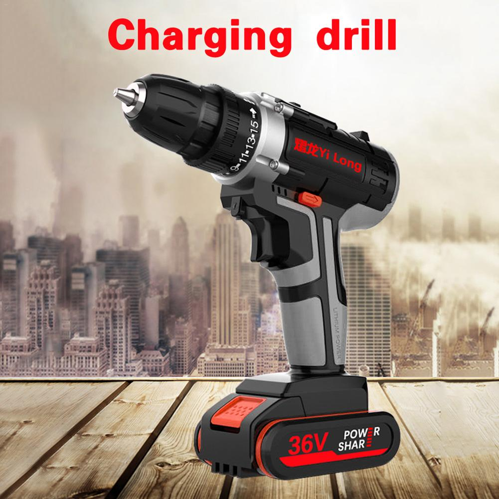 Hand Drill Household Impact Drill Rechargeable Electric Screwdriver Drill Tool-in Electric Screwdrivers from Tools    1