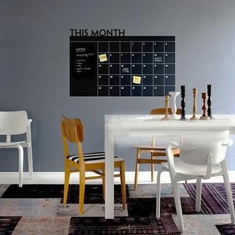 Planner Calendar Blackboard Wall-Stickers Vinyl Office School Decals-Supplies Month Removable
