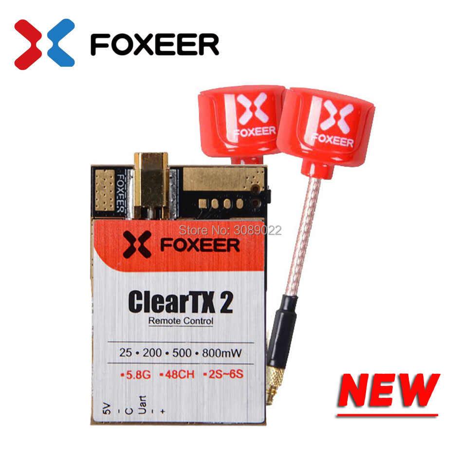 FOXEER ClearTX 2 V2 5,8 Г 48CH 25/200/600 МВт 2 S-6 S переключаемый передатчик с леденцом 2 MMCX антенны/пагода PRO Антенна для FPV