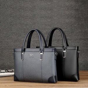 Image 3 - คลาสสิกออกแบบกระเป๋าถือสำหรับ Man Business กระเป๋าเอกสารกระเป๋าคอมพิวเตอร์ชายกระเป๋าสำนักงานผ้ากันน้ำ PVC Travel กระเป๋าทำงานไหล่
