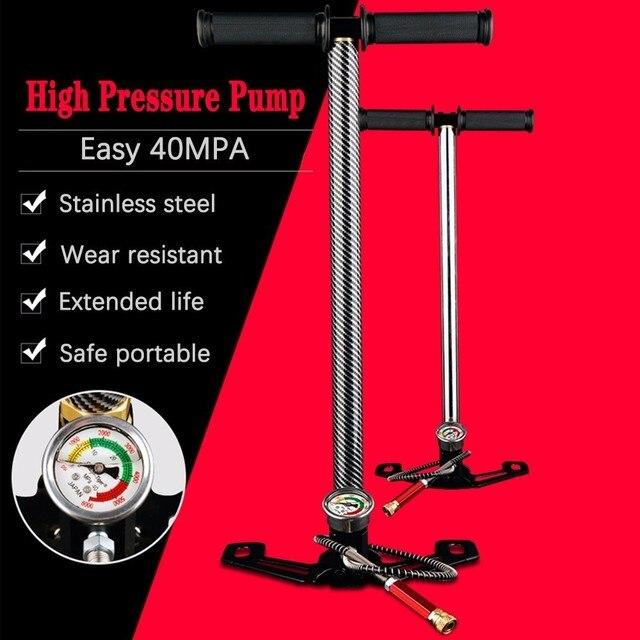 Compresseur haute pression, 30mpa, 4500psi, 300 bars, manuel, pour pompe à Air, pour véhicule, moto, vélo, 3 étages