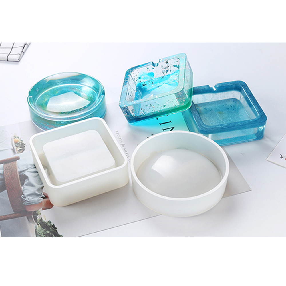 DIY Pot Mold Ashtray Coaster Flexible Silicone Mold Epoxy Resin Jewelry Making Craft Clay Resin Molds Jewelry Making Accesories