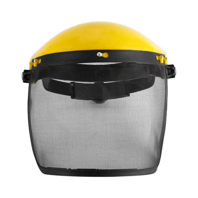 Professional Garden Grass Trimmer Safe Helmet Hat With Full Face Mesh Visor For Logging Brush Cutter Forestry Protection