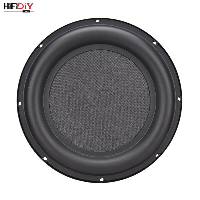 HIFIDIY LIVE 10 inch Bass Speaker Plate Passive Radiator Auxiliary Bass Rubber Vibration Plate Iron frame sound radiation 257mm vibration of orthotropic rectangular plate