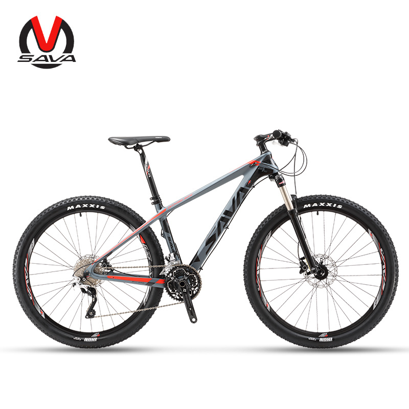 Vélo Sava VTT Vélos Vélos de Montagne Vtt Hommes 27.5 fibre de Carbone Vélo Vtt Vélo Avec Shimano Deore M6000