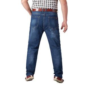 Image 3 - Plus Size męskie jeansy klasyczne proste workowate męskie jeansy nowe letnie cienkie dorywczo luźny krój spodnie dżinsowe duży rozmiar spodni kombinezony