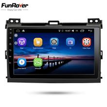 Funrover 2 din Android 8,0 Автомобильный DVD радио мультимедиа для Toyota Prado 120 2004-2009 Авторадио автомобиля навигация gps стерео BT wifi