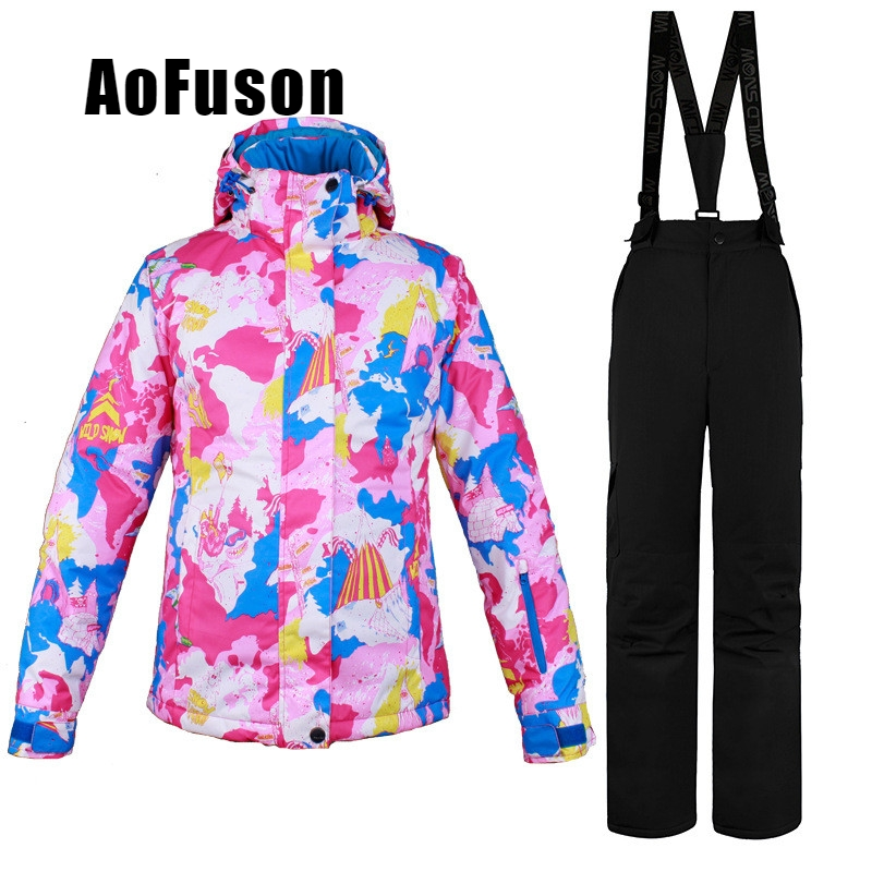 Ski Snowboard veste costume neige coupe-vent imperméable chaud Ski vêtements ensemble femmes manteau pantalon respirant professionnel veste de Ski