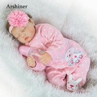 NPK Realistic Pink Girl Silicone Reborn Babies Dolls Education Toys Real Baby Lifelike Bebe Reborn Menina Bonecas Children Gifts