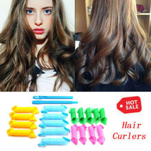 18PCS Magic Hair Curlers Curl Formers Spiral Ringlets Leverage Rollers arrival For Girls