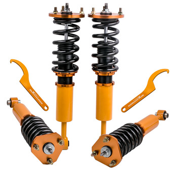 Shock& Spring Assembly Front & Rear Coilover Suspension Set of 4 for fit Lexus LS400  90-00