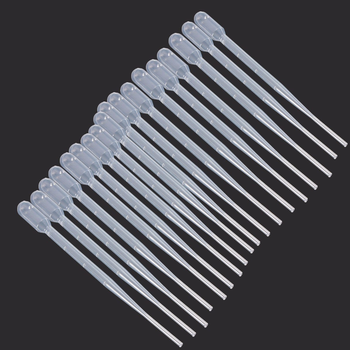 10Pcs New 2ml Clear Plastic Eye Dropper Set Liquid Transfer Graduated Pipettes For Laboratory Experiment Medical Microbiology