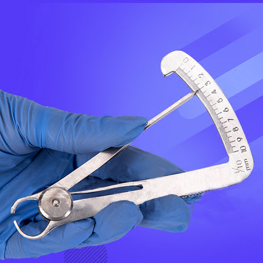 Measuring Tools Metal Triangle Caliper Accurate Oral Care Stainless Steel Mechanic Surgical Ruler Gauge Thickness