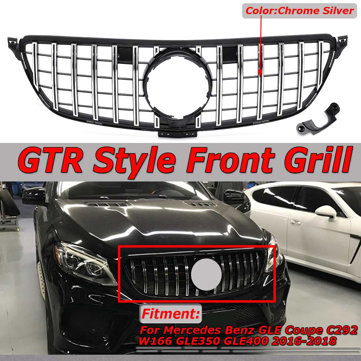 New GTR GT R Style Car Front Grill Grille For Mercedes For Benz GLE Coupe W292