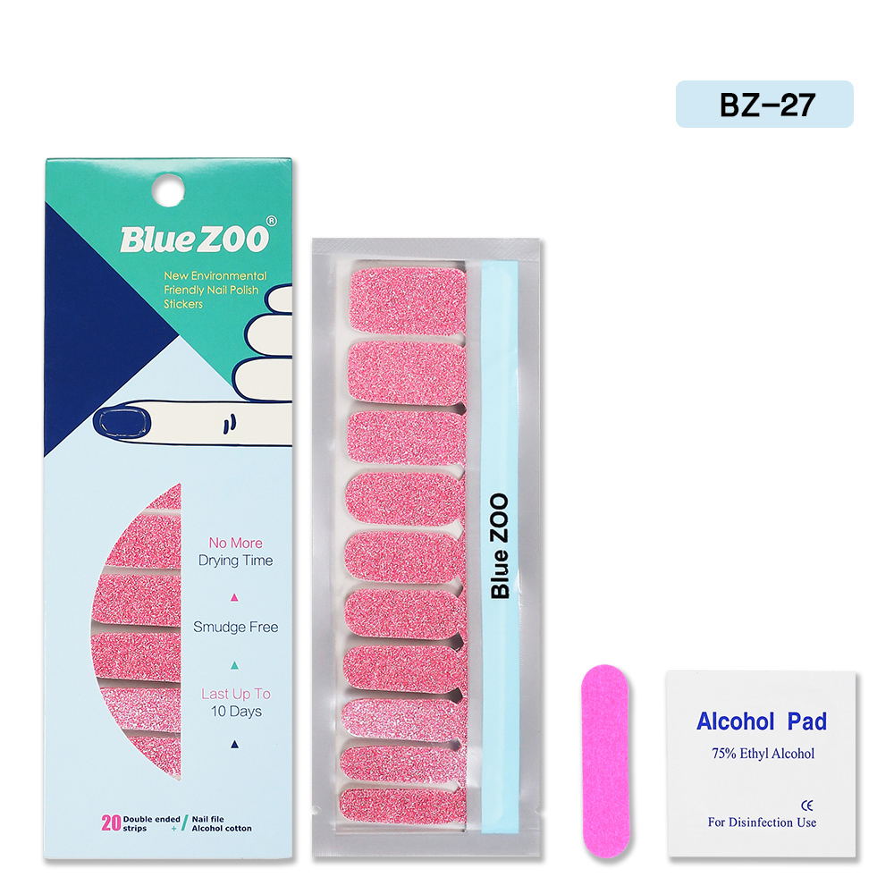 20pcs sheet nail polish stickers