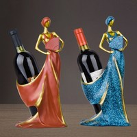 Wine Racks, Home Bar Kitchen Accessories Resin Beauty Girl Model Wine Holder Figurines Miniatures Craft Decoration