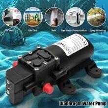 Dayanıklı DC 12 V 130PSI tarım elektrikli su pompası siyah mikro yüksek basınç diyafram su püskürtme araba yıkama 12 V