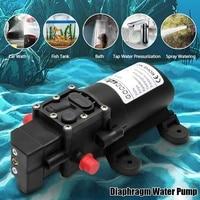 Duurzaam Dc 12 V 130PSI Landbouw Elektrische Waterpomp Zwart Micro Hoge Druk Membraanpomp Water Spuit Wasstraat 12 V Pumps    -