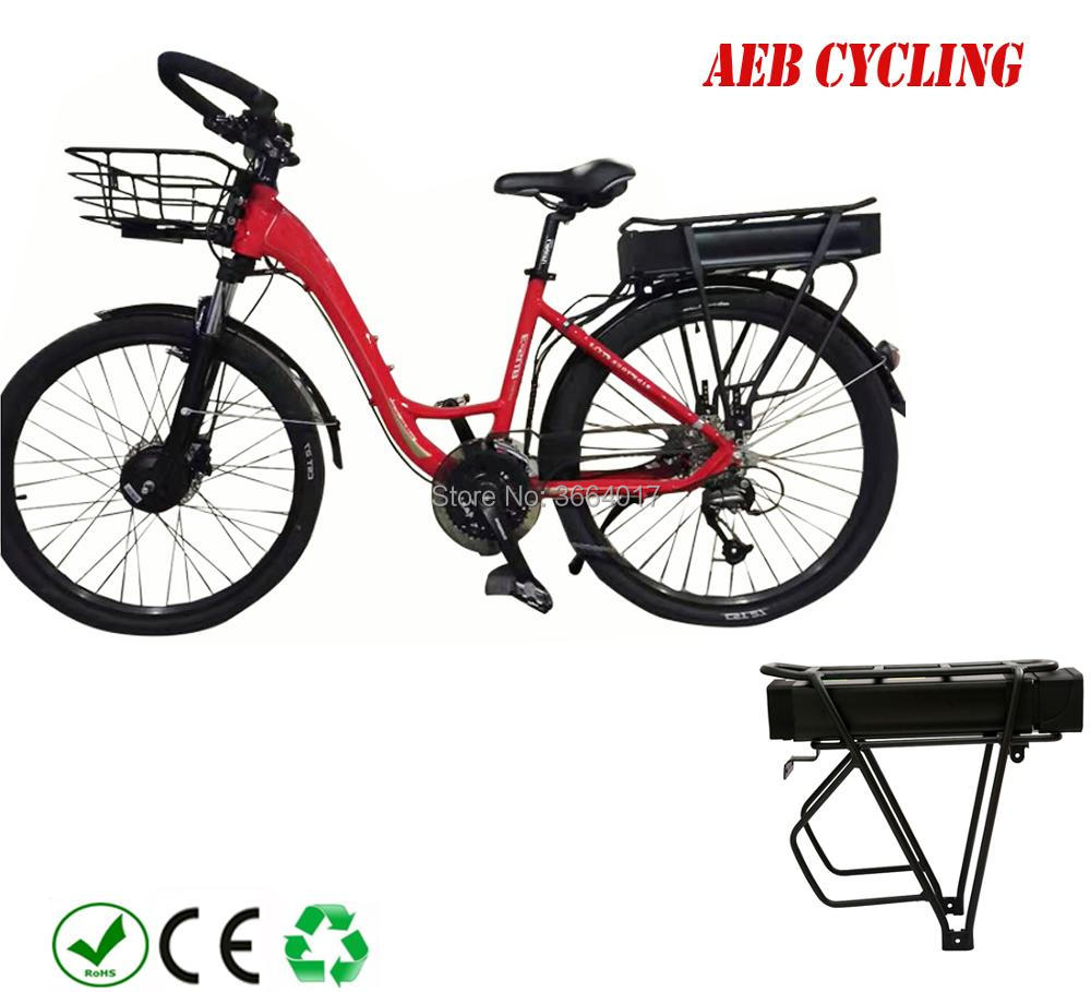 Купить с кэшбэком Free Shipping 48V 1000W/1500W electric cargo bike battery 48V 20Ah 23Ah 25Ah 26Ah 28Ah big rear rack Li-ion powerful battery