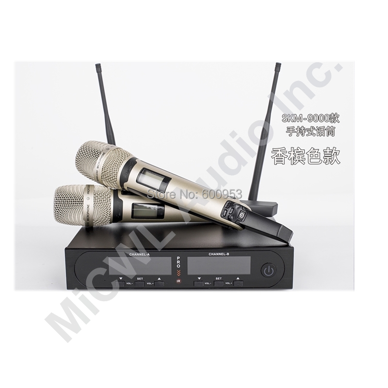 MiCWL Pro SKM9000 200 Channel Wireless Microphone System 2 Champagne Gold Color limited edition in stock