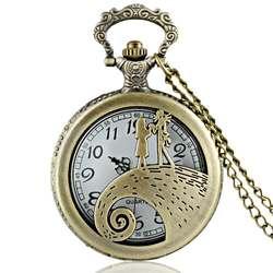 Алиса в стране чудес тема арабские номера Полный Охотник кварцевые выгравированы Fob ретро кулон карманные часы цепи подарок