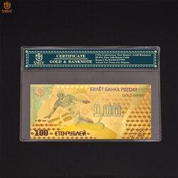 Золотая банкнота в русском стиле для зимних Олимпийских игр 2014 года, 100 рубль, Золотая фольга, коллекционные деньги, Реплика с COA