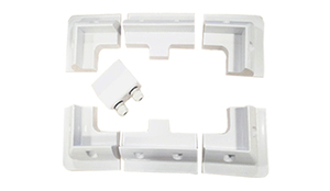 Image 3 - 1 conjunto de kit de suporte de montagem, placa solar abs, cabo de cor branca, entrada gand, ideal para 7 peças de um conjunto para caravan motorhome rv