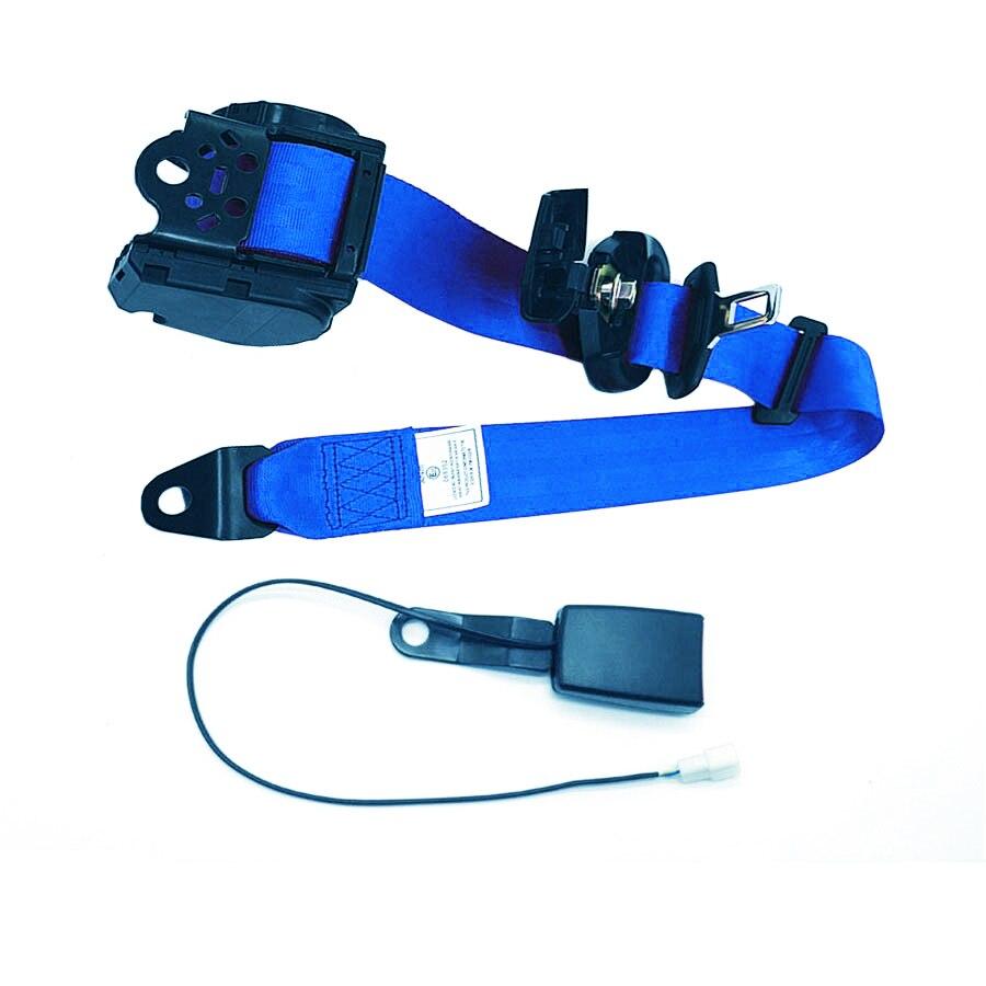 Ceintures de sécurité rétractables pour voiture ceintures de sécurité pour voitures automobiles avec câble d'avertissement à boucle rigide courbe