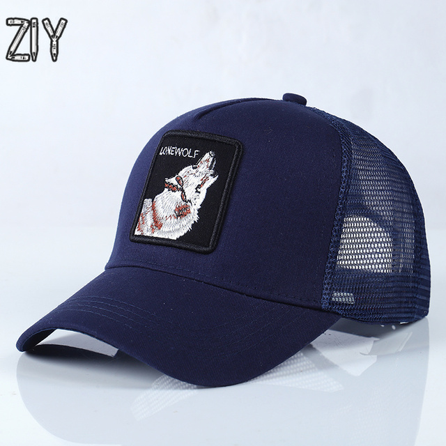 d6a111f8f US $5.6 50% OFF Unisex Baseball Cap Men Streetwear Animals Embroidery Cap  Outwear Adjustable Sports Trucker Mesh Sun Snapback Bone Eagle Cap Hat-in  ...