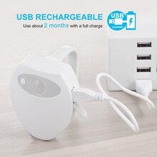 Neue Ankunft USB Aufladbare LED Wc Licht Gebaut In Batterie 8 Farben Wasserdicht Motion Sensor Wc Lampe